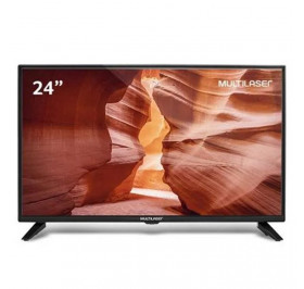MONITOR TV LED 24 MULTILASER TL016 WIDE HD VGA/HDMI/USB/RCA VESA PRETO