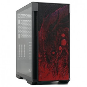 GABINETE ATX GAMER REDRAGON STRAFE INFERNAL DRAGON VIDRO TEMPERADO