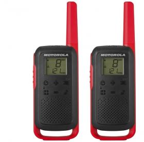 Rádio Comunicador Motorola T210BR Vermelho e Preto 26 Canais e 32 Km