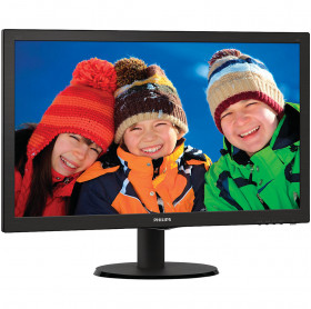 MONITOR LED 21.5 PHILIPS 223V5LHSB2 WIDE VGA/HDMI FULL HD VESA PRETO