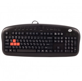 TECLADO USB GAMER MULTIMIDIA PRETO A4TECH KB-28G