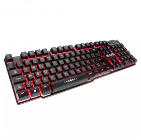 TECLADO USB EVUS TC-05 GAMING THUNDER COLOR ILUMINADO PRETO