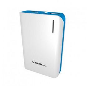 BATERIA PORTATIL 7500MAH ARGOM 2 USB 5V/2A/1A AZUL/BCO ARG-AC-0237L