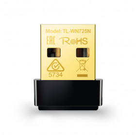 PLACA DE REDE USB NANO TP-LINK TL-WN725N WIRELESS 150MBPS 802.11G/B/N