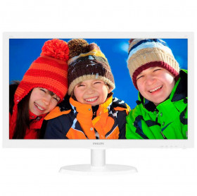 MONITOR LED 21.5 PHILIPS 223V5LHSW WIDE VGA/HDMI FULL HD VESA BRANCO