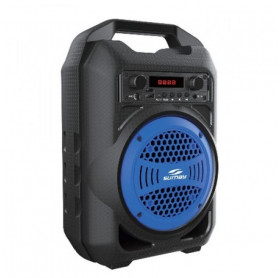 CAIXA DE SOM PORTATIL SUMAY GALLON 30W AZUL USB/MICRO SD/BLUETOOTH /RADIO/MP3