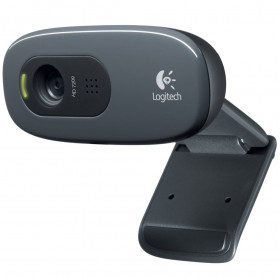 WEBCAM C270 LOGITECH 3MP HD720P PRETA 960-000694