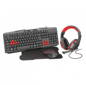 KIT TRUST 22428 ZIVA GAMING TECLADO/MOUSE/MOUSE PAD/FONE