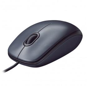 MOUSE USB M100 LOGITECH 1000 DPI PRETO/CINZA 910-001601