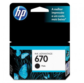 CARTUCHO HP 670 7,5ML CZ113AB PRETO 3525/4615/4625/5525