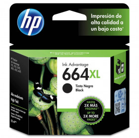 CARTUCHO HP 664XL 8.5ML F6V31AB PRETO 1115/2136/3636/3836/4536/4676