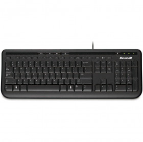 TECLADO USB ANB-00005 MICROSOFT MULTIMIDIA WIRED 600 PRETO