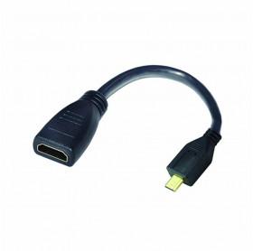 CABO ADAPTADOR ARGOM ARG-CB-0054 MICRO HDMI MACHO PARA HDMI FEMEA 15CM