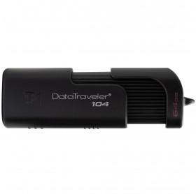 PEN DRIVE 64GB KINGSTON 104 USB 2.0 PRETO DT104/64GB