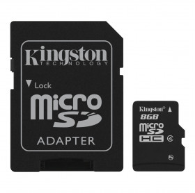 CARTÃO DE MEMORIA 8GB CLASSE 4 MICRO SD C/ ADAPTADOR KINGSTON
