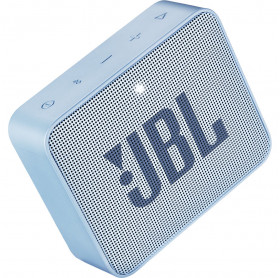 CAIXA DE SOM PORTATIL JBL GO 2 AZUL IPX7 BT 3W JBLGO2CYAN