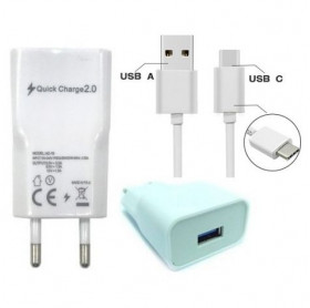 CARREGADOR DE TOMADA 2 USB 5V/2.4A C/CABO USB-C IVON GVBRASIL FTD.4701