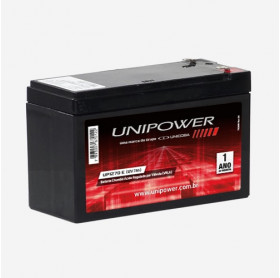 BATERIA SELADA SEG/NOBREAK 12V 7AH UP1270 UNIPOWER 06K069/06K086