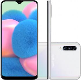 APARELHO CELULAR SMARTPHONE SAMSUNG GALAXY A30S BCO OC/64GB/4GBRAM/TELA 6.4