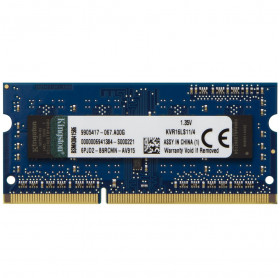MEMORIA 4GB NOTEBOOK KINGSTON KVR16LS11/4 DDR3 1600MHZ LW 1.35V
