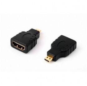ADAPTADOR HDMI FEMEA PARA MICRO HDMI MACHO PRETO GVBRASIL ADT.023
