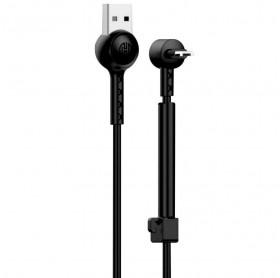 CABO USB MACHO PARA MICRO USB 1.0MT 2.1A HOOPSON CH-12 PRETO - SMARTPHONES