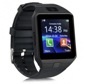RELOGIO SMARTWATCH PRETO BLUETOOTH MICRO SD CHIP