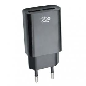 CARREGADOR DE TOMADA I2GO 2 USB 2.4A I2GWAL040