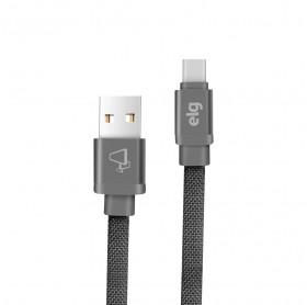 CABO USB MACHO PARA USB-C ELG CANVAS 1 MT CINZA CNVC10GY