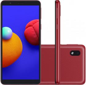 APARELHO CELULAR SMARTPHONE SAMSUNG GALAXY A01 RED QUAD CORE 32GB/2GBRAM/TEL 5.3