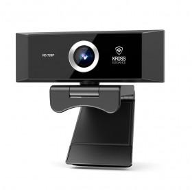 WEBCAM HD 720P KROSS ELEGANCE C/TRIPE FOCO MANUAL PRETA KE-WBM720P