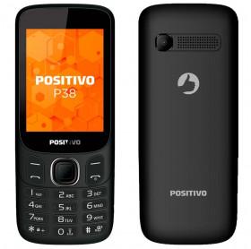 APARELHO CELULAR POSITIVO P38 DUAL CHIP 3G TELA 2.8 PRETO