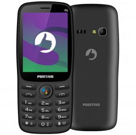 APARELHO CELULAR POSITIVO P70S KAIOS 4GB 3G DUAL CHIP TELA 2.8 PRETO
