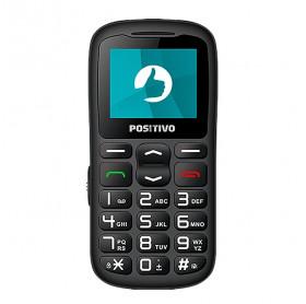 APARELHO CELULAR POSITIVO P36 DUAL CHIP 3G TELA 1.8 PRETO - ANTENA EXTERNA