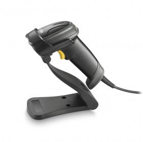 LEITOR CODIGO DE BARRAS USB IMAGER 1D E 2D ELGIN EL250 C/ SUPORTE PRETO