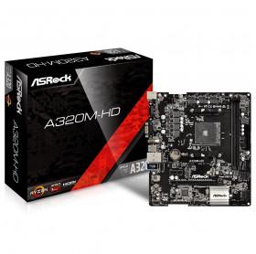 PLACA MAE ASROCK A320M-HD AMD AM4 DDR4 2400/2133 M.2 VGA HDMI
