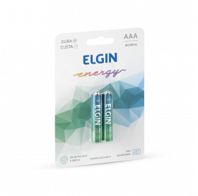 PILHA ALCALINA ELGIN ENERGY AAA C/2 LR3 1.5V 82154