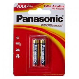 PILHA ALCALINA AAA/2 PANASONIC LR03XAB/2B