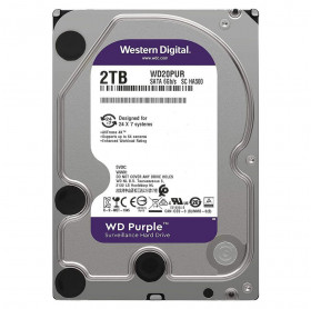 HD 2TB SATA III 3.5 WD PURPLE WD20PURX 5400 RPM 64MB - VIGILANCIA DVR