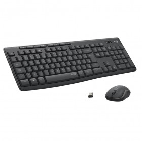 Teclado e Mouse Sem Fio MK295 Logitech Silent Preto