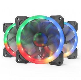 KIT COOLER PARA GABINETE RGB REDRAGON GC-F008 C/3 PCS 120X25MM