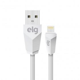 CABO USB PARA LIGHTNING ELG BRANCO 1.0MT L810