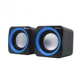 CAIXA DE SOM USB/P2 HOOPSON 4W RMS CX-PC018A PRETA/AZUL