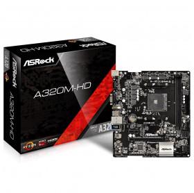 PLACA MAE ASROCK A320M-HD R4.0 AMD AM4 DDR4 3200/2400 M.2 VGA HDMI