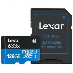 CARTÃO DE MEMORIA 128GB LEXAR MICRO SDXC CLASSE 10 LSDMI128BBNL633A