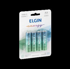 PILHA ALCALINA ELGIN ENERGY AA C/4 LR6 1.5V 82153