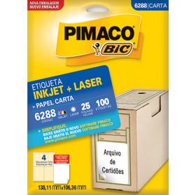 ETIQUETA PIMACO 6288 MOD.4 CARTA 25 FOLHAS