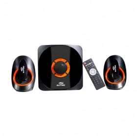CAIXA DE SOM 2.1 SUMAY SM-CS3313B 42W RMS BLUETOOTH SD/USB/FM PRETA/LARANJA