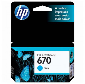 CARTUCHO HP 670 3,5ML CZ114AB AZUL 3525/4615/4625/5525