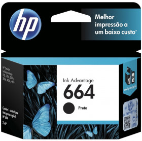 CARTUCHO HP 664 2ML F6V29AB PRETO 1115/2136/3636/3836/4536/4676